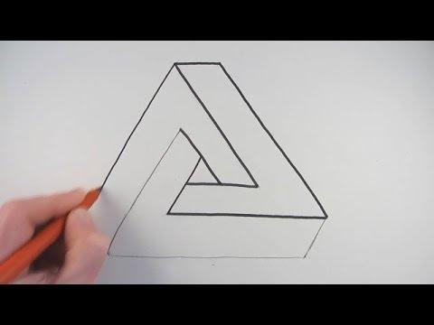 Рисуем иллюзию на бумаге поэтапно