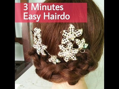 3 Minutes Easy Formal Hair do  Updo Tutorial for party, graduation - bahasa (wisuda, pesta, dll)