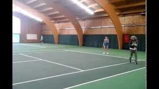 Camila Giorgi training in Antwerp. Special guest : Kiki Mladenovic