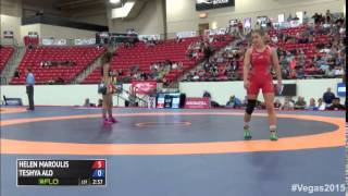 58 kg SF - Helen Maroulis (Sunkist Kids) vs Teshya Alo (TMWC)