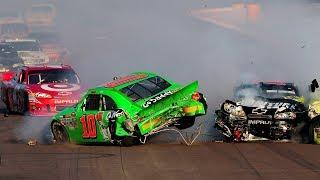 NASCAR Crashes After The Finish