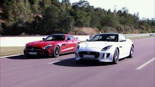 Mercedes AMG GT S vs. Jaguar F-Type R AWD - GRIP - Folge 335 - RTL 2