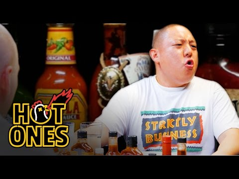 Eddie Huang Gets Destroyed by Spicy Wings Hot Ones