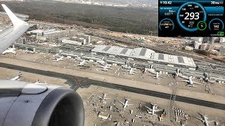 Speed and Altitude Recording During Takeoff from Frankfurt Airport. Embraer E95