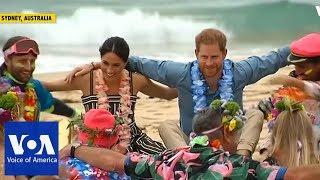 Harry, Meghan Attend 'Fluro Friday' Session on Bondi Beach