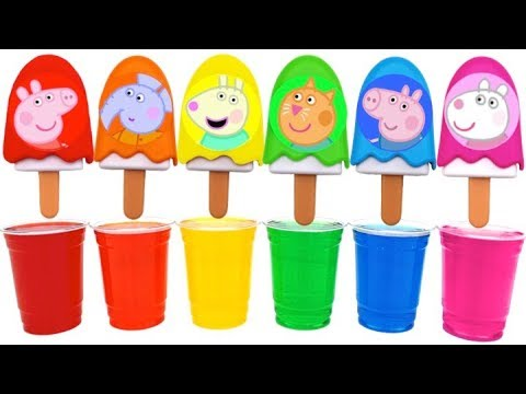 Learn Colors Dye Coloring Ice Cream Popsicles