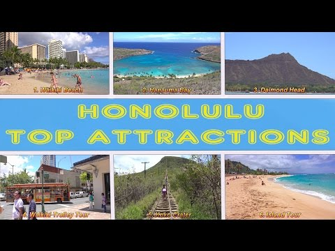 Honolulu Top Attractions - Oahu, Hawaii 2016 4K