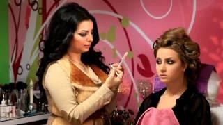 مكياج خبيرة التجميل ناديه الشطي مع الموديل دانه لوك العروس ٢٠١٣
