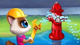 Play Fun Pet Care Kids Game - Kitty Meow Meow City Heroes - Help Animals Game