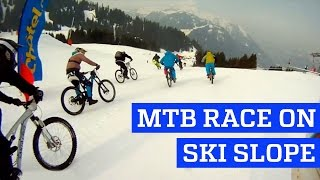 MTB Race on Ski Slope | People are Awesome