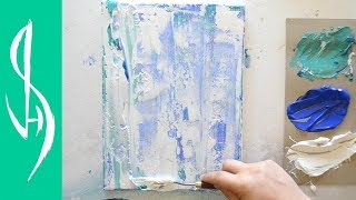 Abstract Palette Knife Painting with Acrylics - Very Easy Technique!