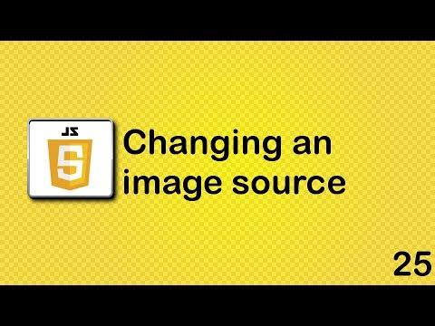 JavaScript beginner tutorial 25 - changing an image source