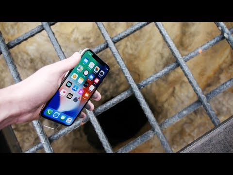 Dropping an iPhone X Down 4000 FT Deep Hole What s In There