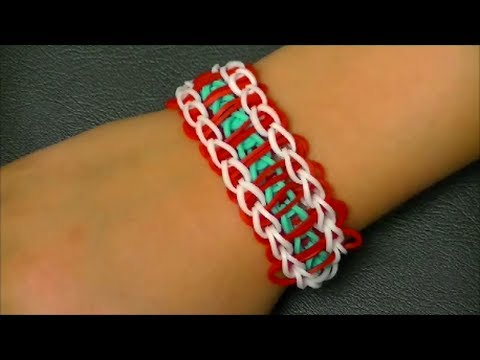 "Браслет из резинок. No8. Стиль ""лестница"". Rainbow loom bracelet tutorial. Style Ladder - videooin.com - Watch High Quality Vide"