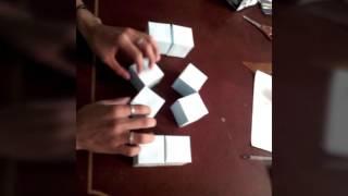 como hacer un cubo mágico de fotos
