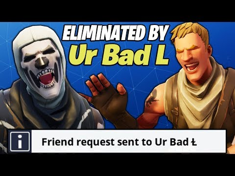 I BECAME FRIENDS WITH A FAKE NOOB AFTER HE MADE ME RAGE ON FORTNITE HE CARRIED ME