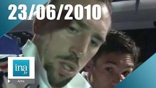 20h France 2 du 23 juin 2010 - Les Bleus quittent l'Afrique du Sud   Archive INA