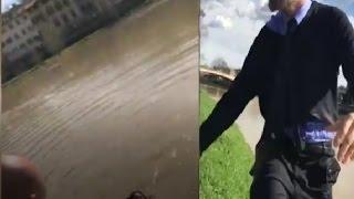شرطي إيطالي يلقي بنفسه في النهر لإنقاذ شابة مغربية