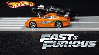 Fast & Furious Hot Wheels Cars Movie Scenes Collection