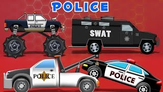 Police Car Compilation | 60mins  Video For Kids | learn vehicles | kids videos