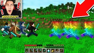 YOUTUBERS VS RAINBOW STEVE IN MINECRAFT!