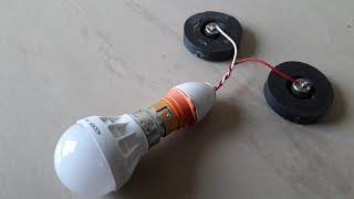 Free Energy Generating Device with Light Bulb