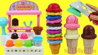 Toy Ice Cream Cart Playset Surprise Strawberry Orange Toys Fruits Ice Cream Fridge Toys