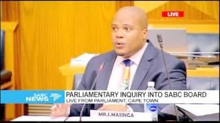 Parliament SABC Board Inquiry: Sipho Masinga prt1