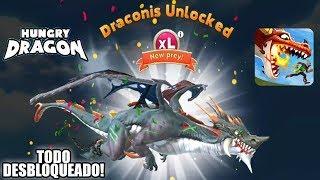 Hungry Dragon DESBLOQUEANDO TODAS LAS COSAS DEL JUEGO! TODOS LOS DRAGONES, + DRAGONES OCULTOS!