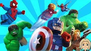 HULK SPIDERMAN Cartoon Games for Kids - Spider-Man Lego Marvel Superheroes Helps HULK PART #4