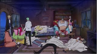 Straw Hats, Trafalgar Law & Sabo Cute Moment at Kyros' House | One Piece 737