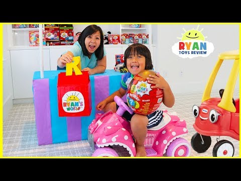 Ryan s Drive Thru Pretend Play Adventure with Kids Power Wheels Ride on Car