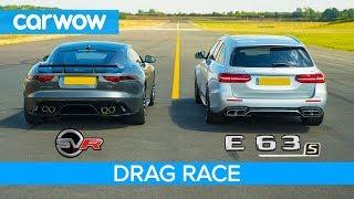 Jaguar F-Type SVR vs Mercedes-AMG E63 S - DRAG RACE, ROLLING RACE & BRAKE TEST