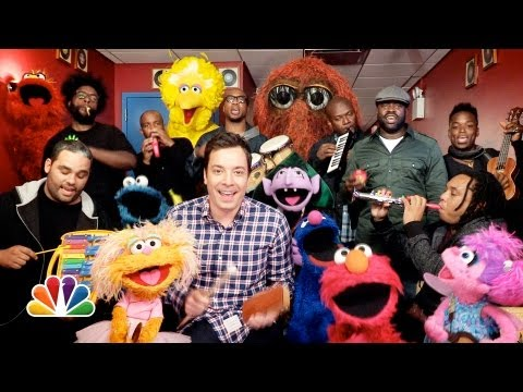 Jimmy Fallon Sesame Street & The Roots Sing Sesame Street Theme w Classroom Instruments