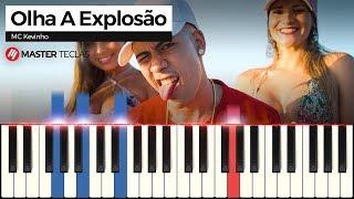 💎MC Kevinho - Olha a Explosão - Piano tutorial - MASTER TECLAS💎