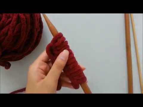 DIY 編織教學 織頸巾 圍巾 【起針、收針(隱藏線頭)】