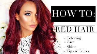❤ HOW TO: Red Hair - Coloring, Care, Shine, Tips & Tricks ❤