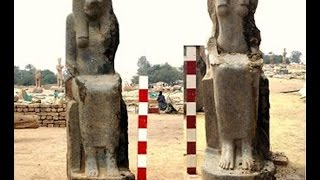 66 statues of Pharaonic goddess Sekhmet discovered in Luxor Egypt