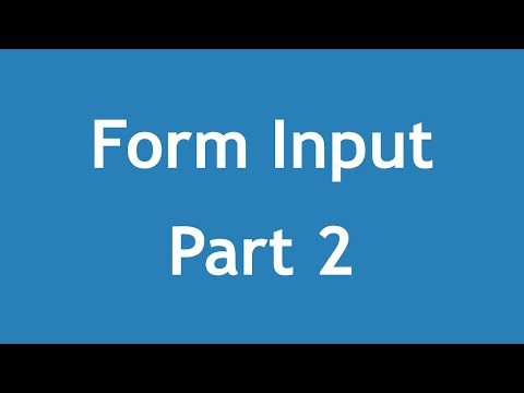 [ Html5 In Arabic ] #19 - Form Input - Email, Search, Url, Tel
