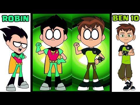 Xxx Mp4 Teen Titans Go Robin Transforms AS Ben 10 Characters BibaBob TOYS 3gp Sex