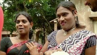 Railway Station Movie Scenes - Sandeep and Shiva comedy scene with hijras - Shravani