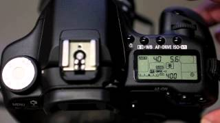 Canon 50D - Setting up the drive mode