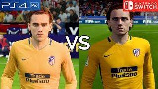 FIFA 18 Graphics Comparison (PS4 Pro vs Nintendo Switch)