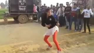 Indian girl dance on hindi song
