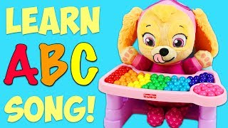LEARN ABC Alphabet Song with Paw Patrol Baby Skye Learning Colors and ABC