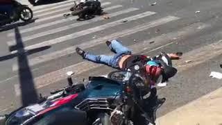 Tai nạn trước công viên Thanh Lễ - Đại Lộ BD x đường K8