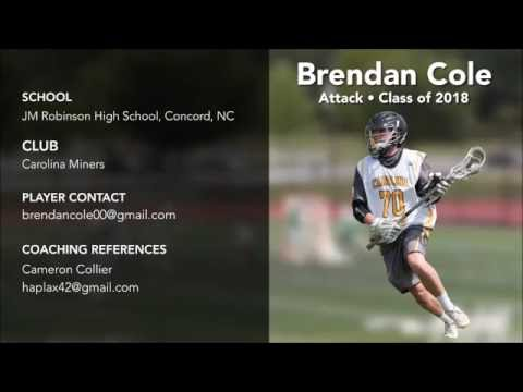 Brendan Cole 2016 Hogan's Hershey Lacrosse Tournament Highlights Co 2018