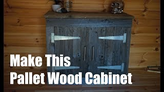 How to Build a Pallet Wood Cabinet