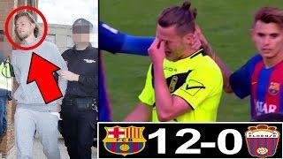 هذا اللاعب بكى بحرقة بعد الخسارة ب12-0 أمام برشلونة فلماذا إعتقلته الشرطة بعد ذلك!