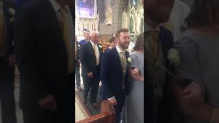 Paula &a Paddy going back down the aisle